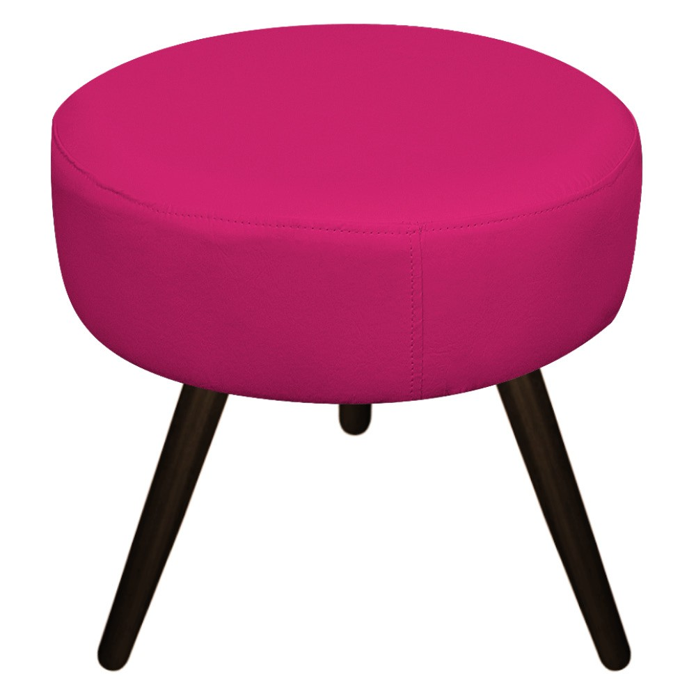 Kit 02 Puffs Sofia Palito Tabaco Suede Pink - ADJ Decor