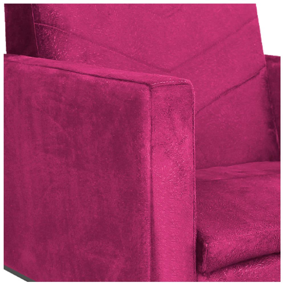 kit 03 Poltronas Bella Base de Ferro Preta Suede Pink - ADJ Decor