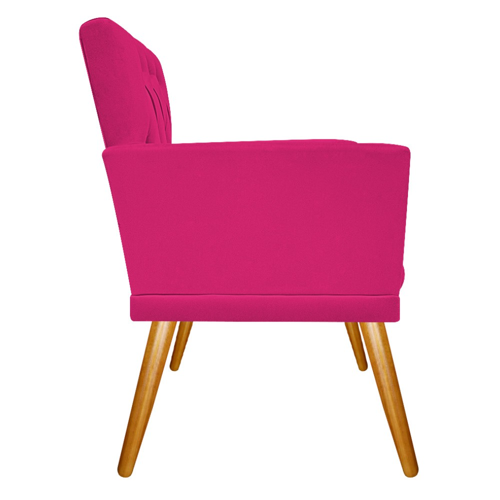 kit 03 Poltronas Fernanda Palito Mel Suede Pink - ADJ Decor
