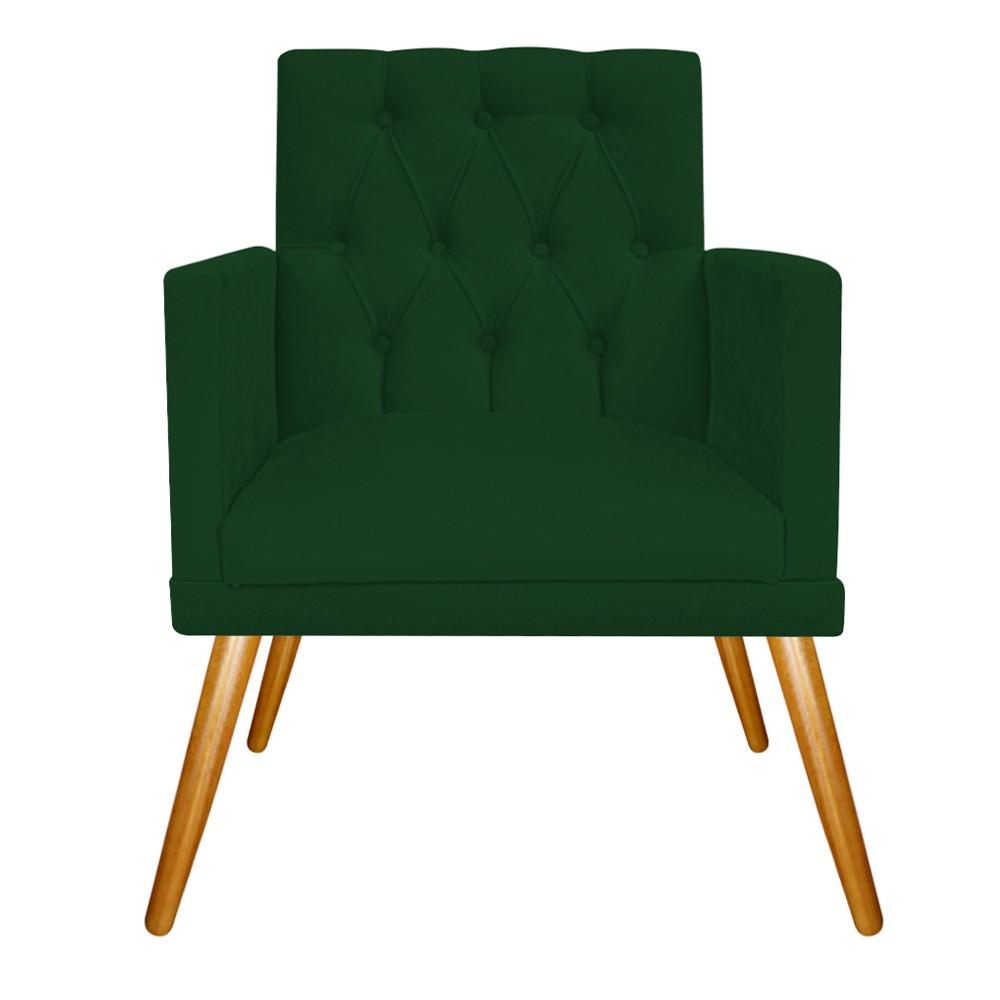 kit 03 Poltronas Fernanda Palito Mel Suede Verde - ADJ Decor