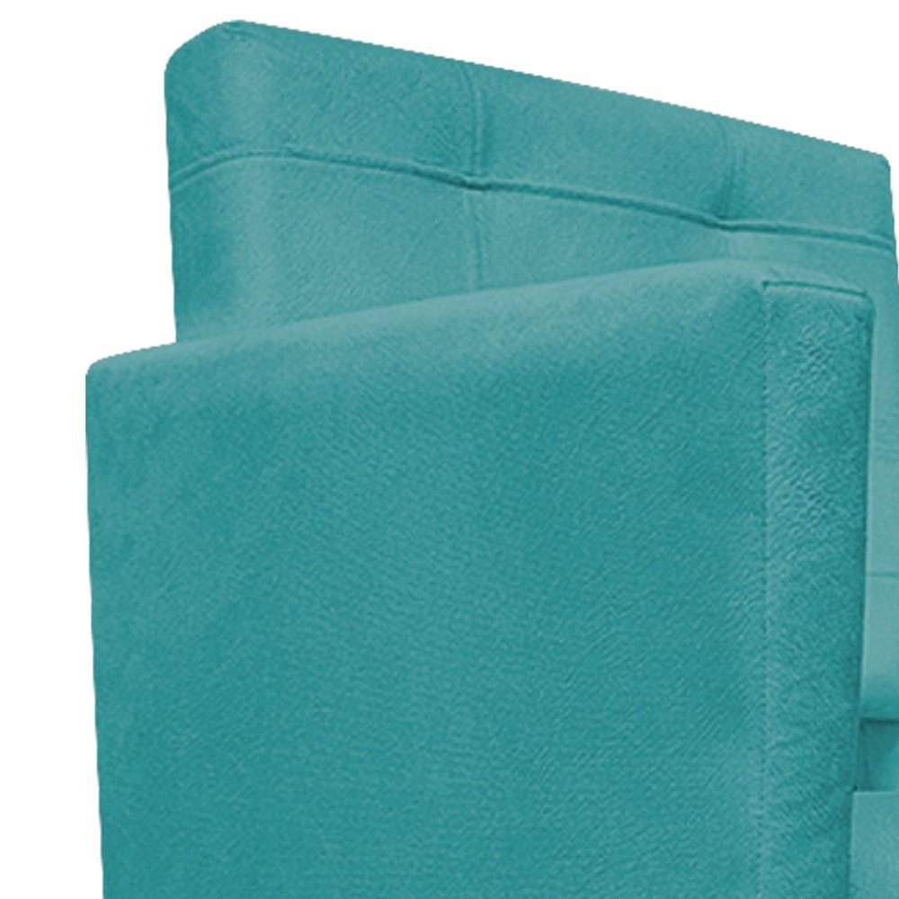 kit 03 Poltronas Gênesis Palito Tabaco Suede Azul Turquesa - ADJ Decor