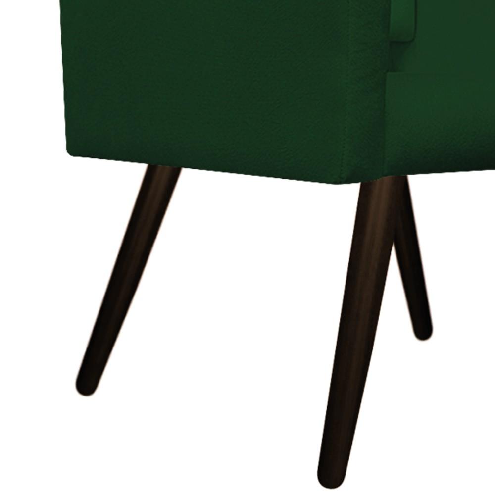 kit 03 Poltronas Gênesis Palito Tabaco Suede Verde - ADJ Decor