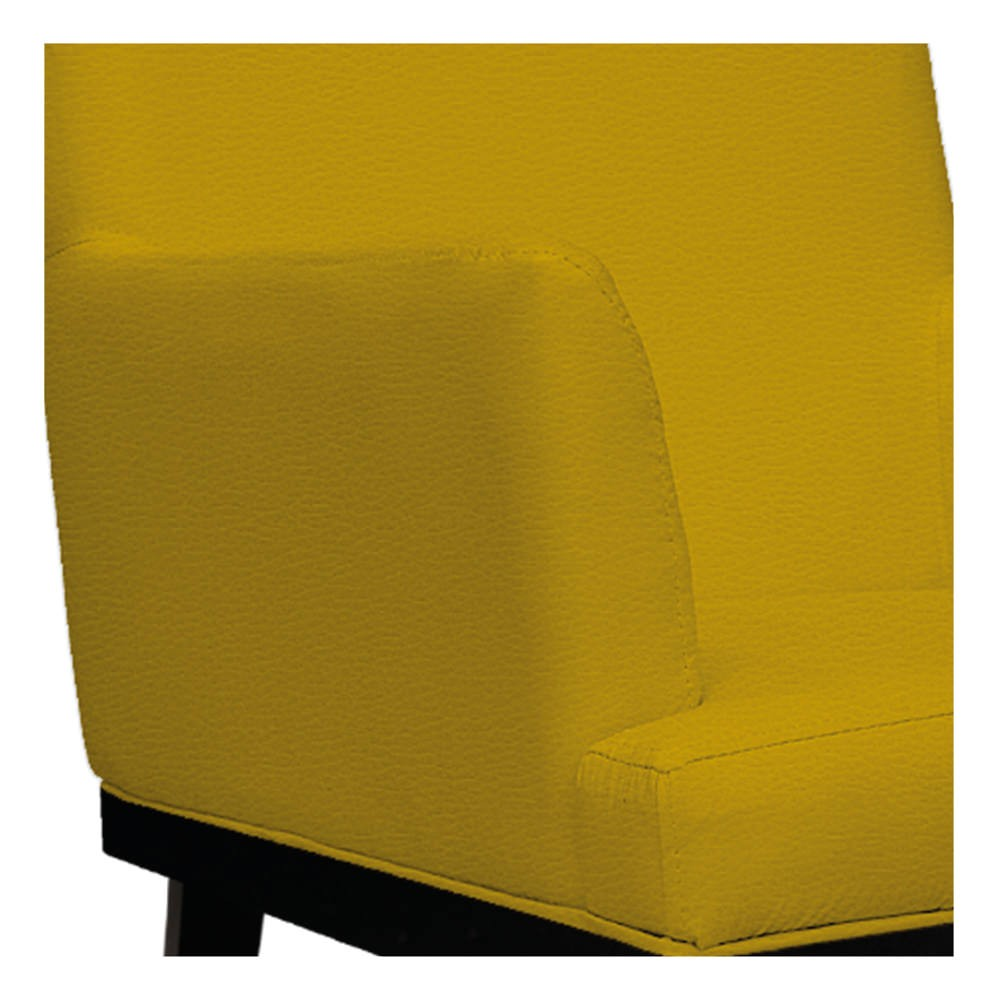 kit 03 Poltronas Vitória Corano Amarelo - ADJ Decor