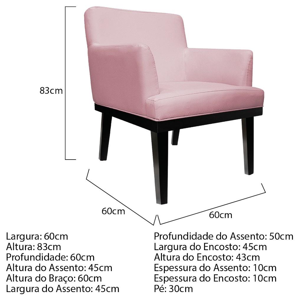 kit 03 Poltronas Vitória Corano Rosa Bebê - ADJ Decor