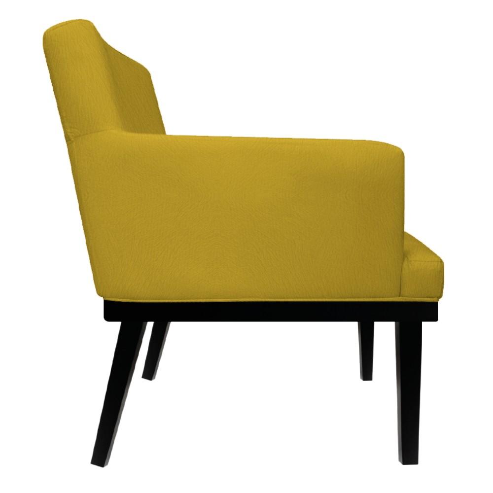 kit 03 Poltronas Vitória Suede Amarelo - ADJ Decor