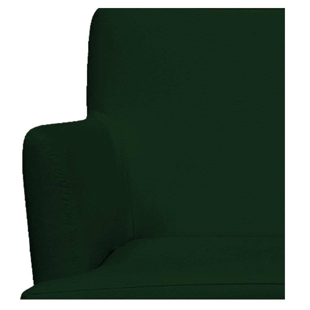 kit 03 Poltronas Vitória Suede Verde - ADJ Decor