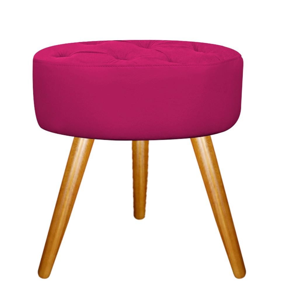 Kit 03 Puffs Fernanda Palito Mel Suede Pink - ADJ Decor