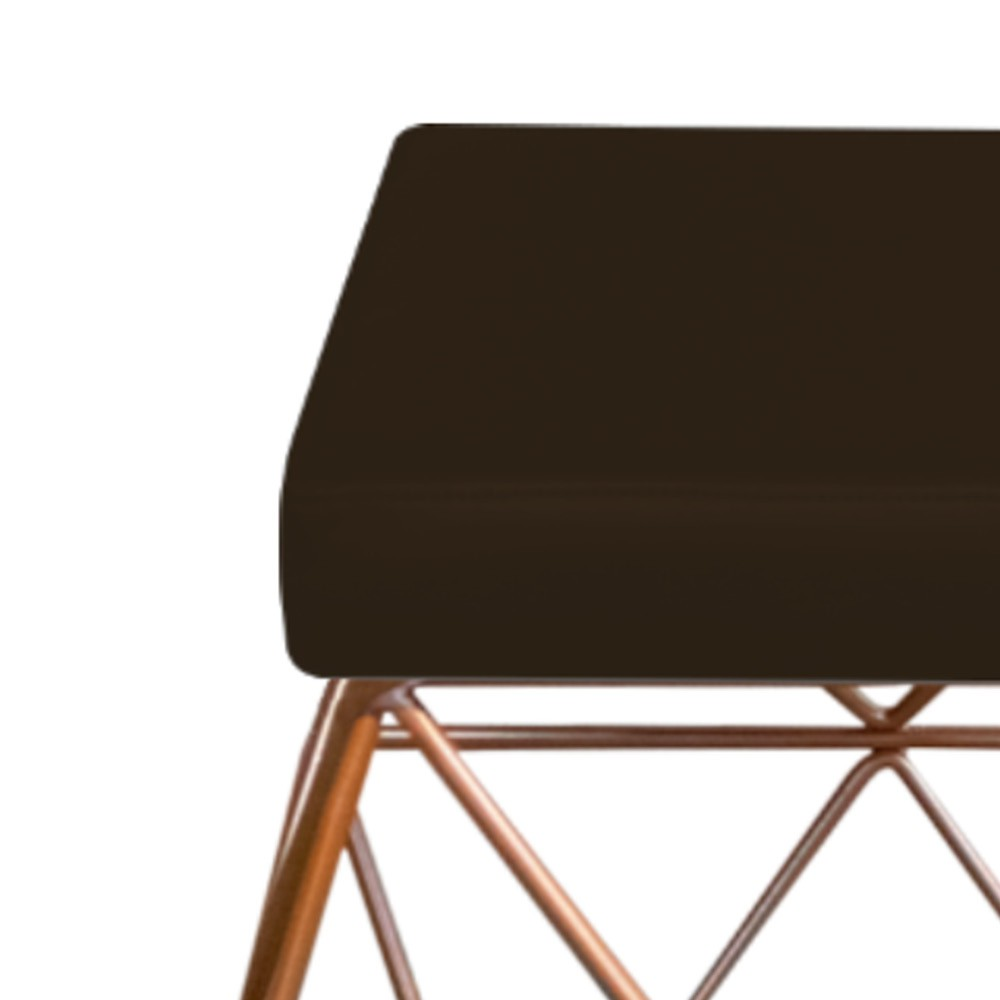 Kit 03 Puffs Quadrado Aramado Elsa Corano Marrom - ADJ Decor