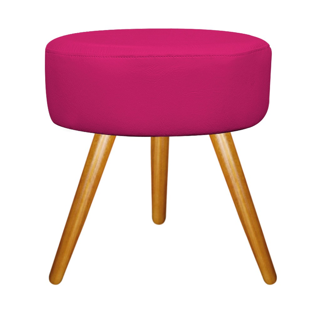 Kit 03 Puffs Sofia Palito Mel Suede Pink - ADJ Decor