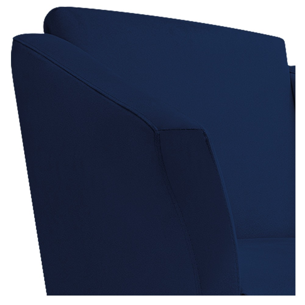 kit 04 Poltronas Diana Palito Mel Suede Azul Marinho - ADJ Decor