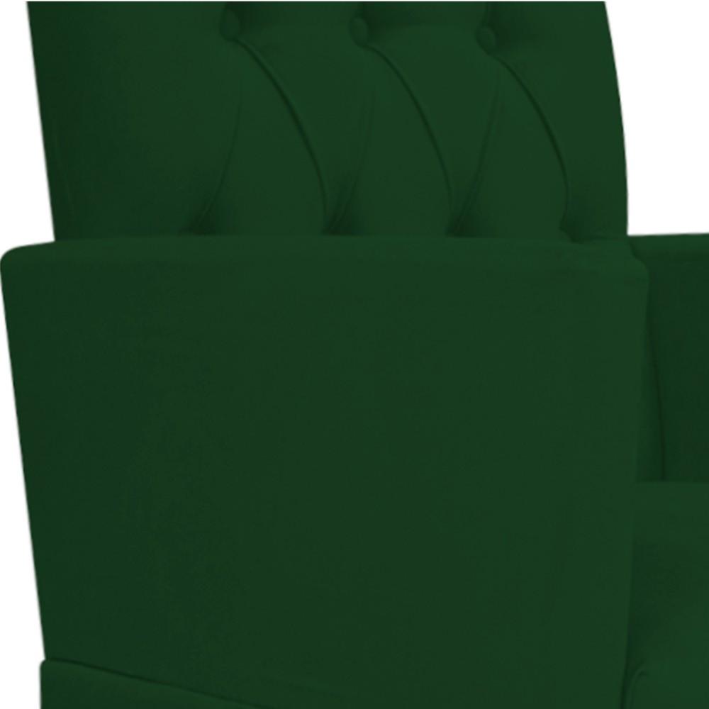 kit 04 Poltronas Fernanda Palito Tabaco Suede Verde - ADJ Decor