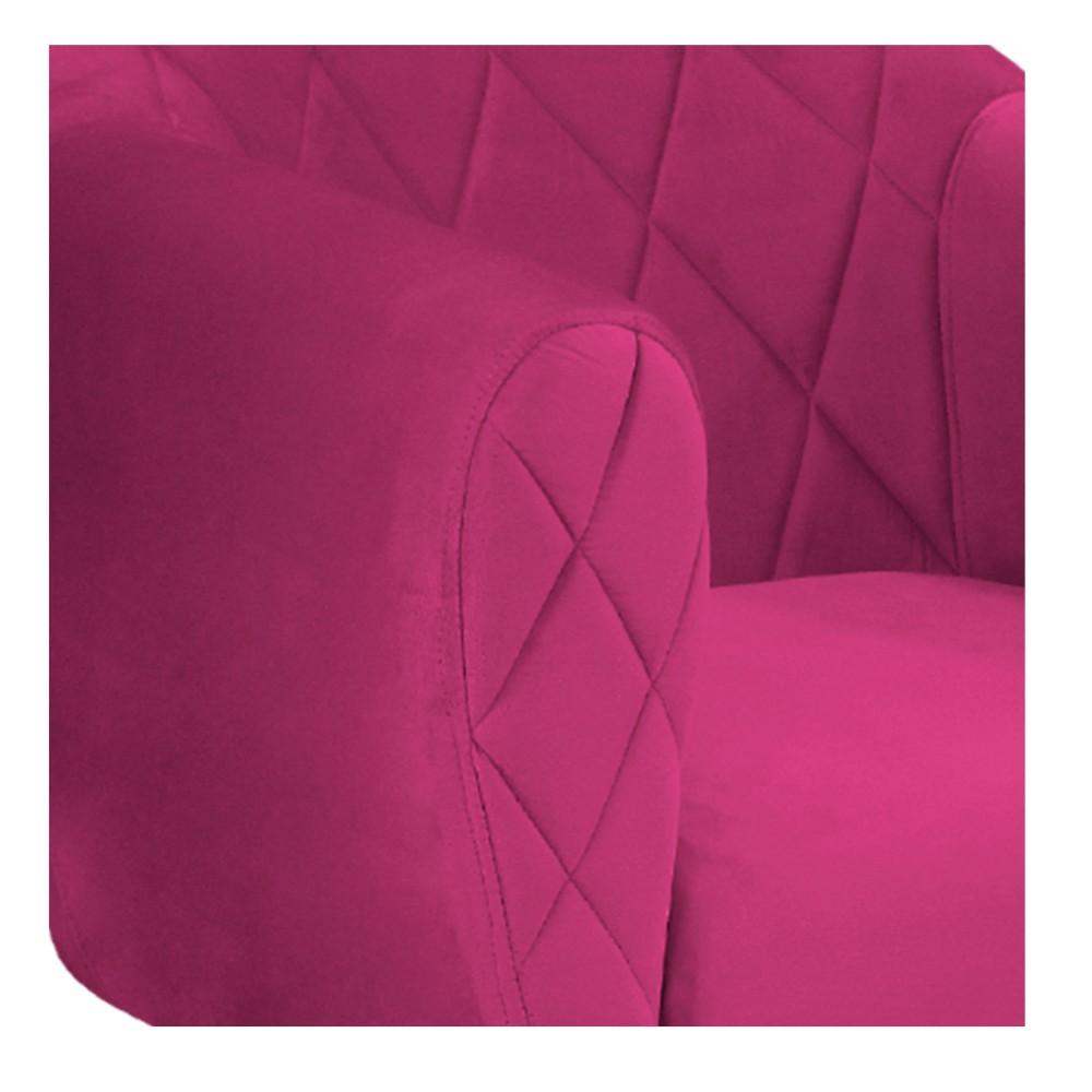 Kit 04 Poltronas Helena Base Giratória de Madeira Suede Pink - ADJ Decor