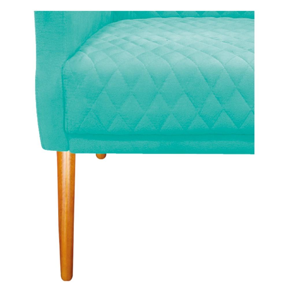 kit 04 Poltronas Juliana Palito Mel Suede Azul Tiffany - ADJ Decor