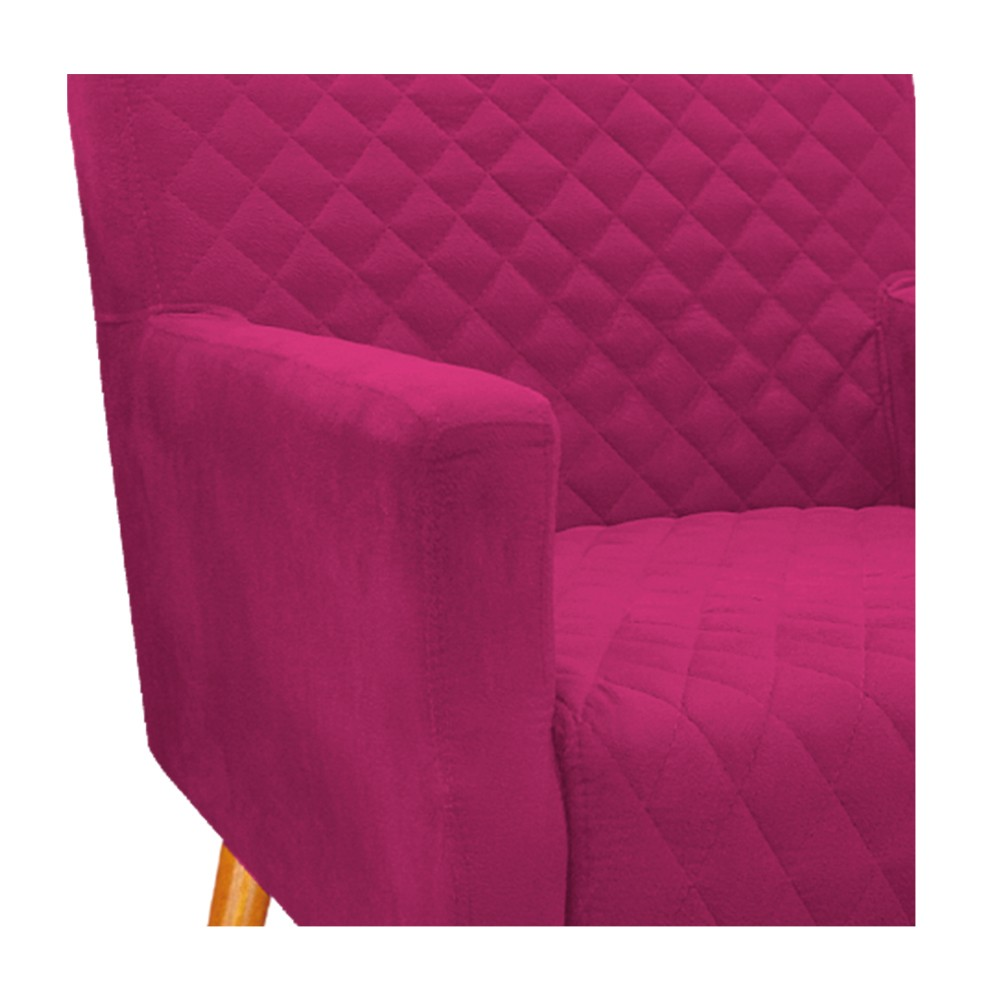 kit 04 Poltronas Juliana Palito Mel Suede Pink - ADJ Decor