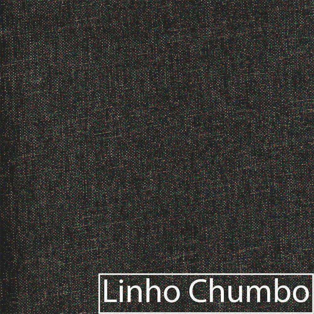 kit 04 Poltronas Luiza Base Giratória de Metal Linho Chumbo - ADJ Decor
