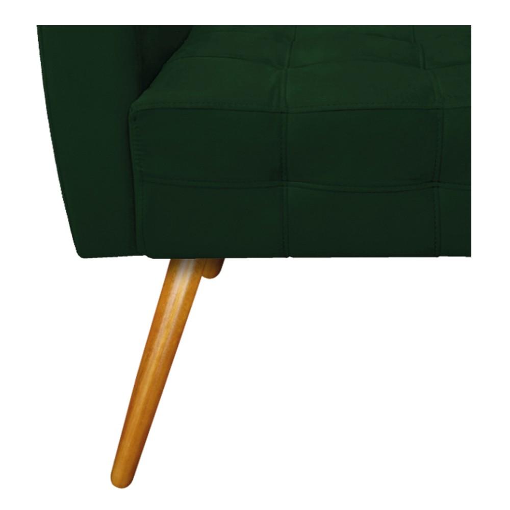 kit 04 Poltronas Stella Palito Mel Suede Verde - ADJ Decor