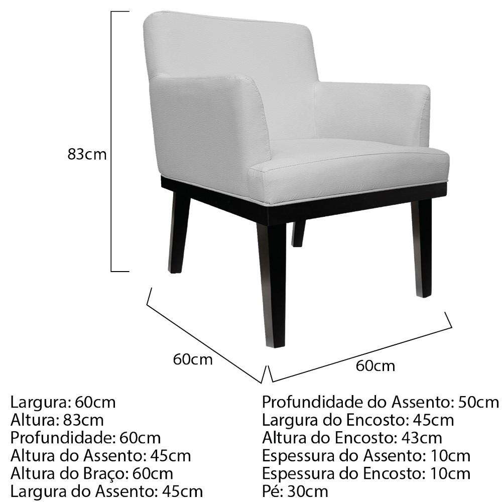 kit 04 Poltronas Vitória Corano Branco - ADJ Decor