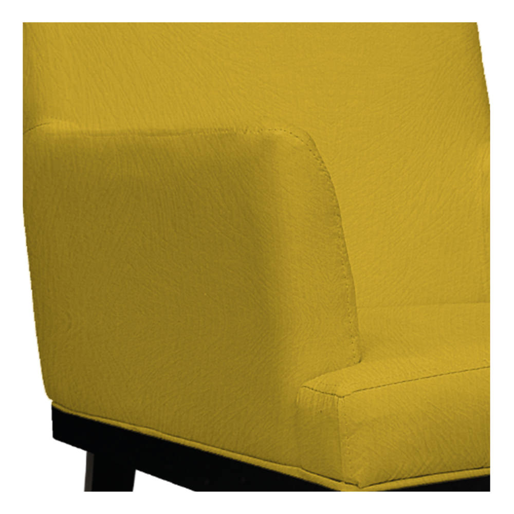 kit 04 Poltronas Vitória Suede Amarelo - ADJ Decor