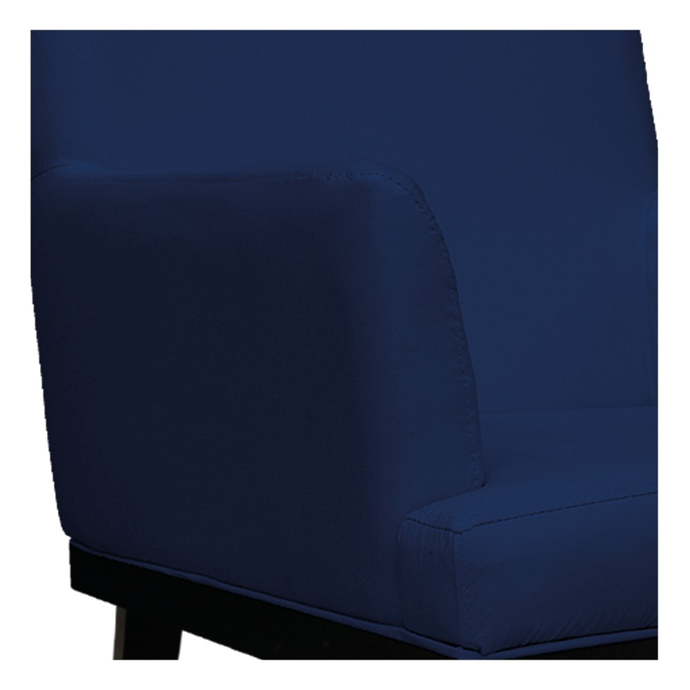 kit 04 Poltronas Vitória Suede Azul Marinho - ADJ Decor