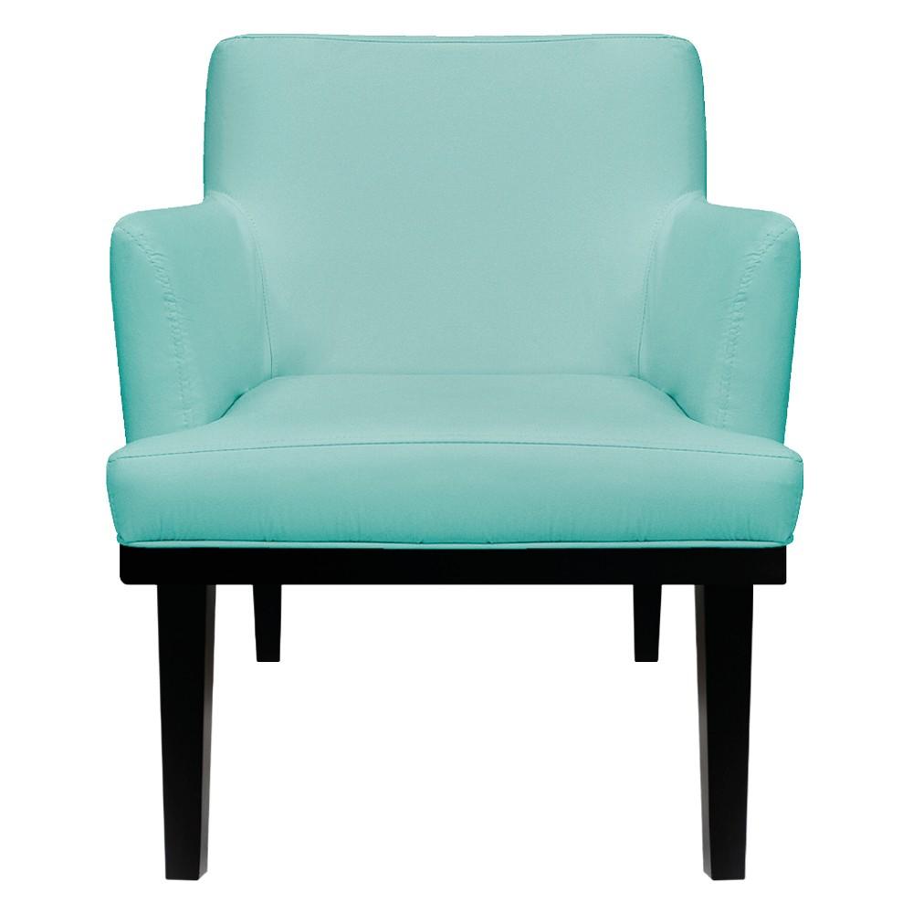 kit 04 Poltronas Vitória Suede Azul Tiffany - ADJ Decor
