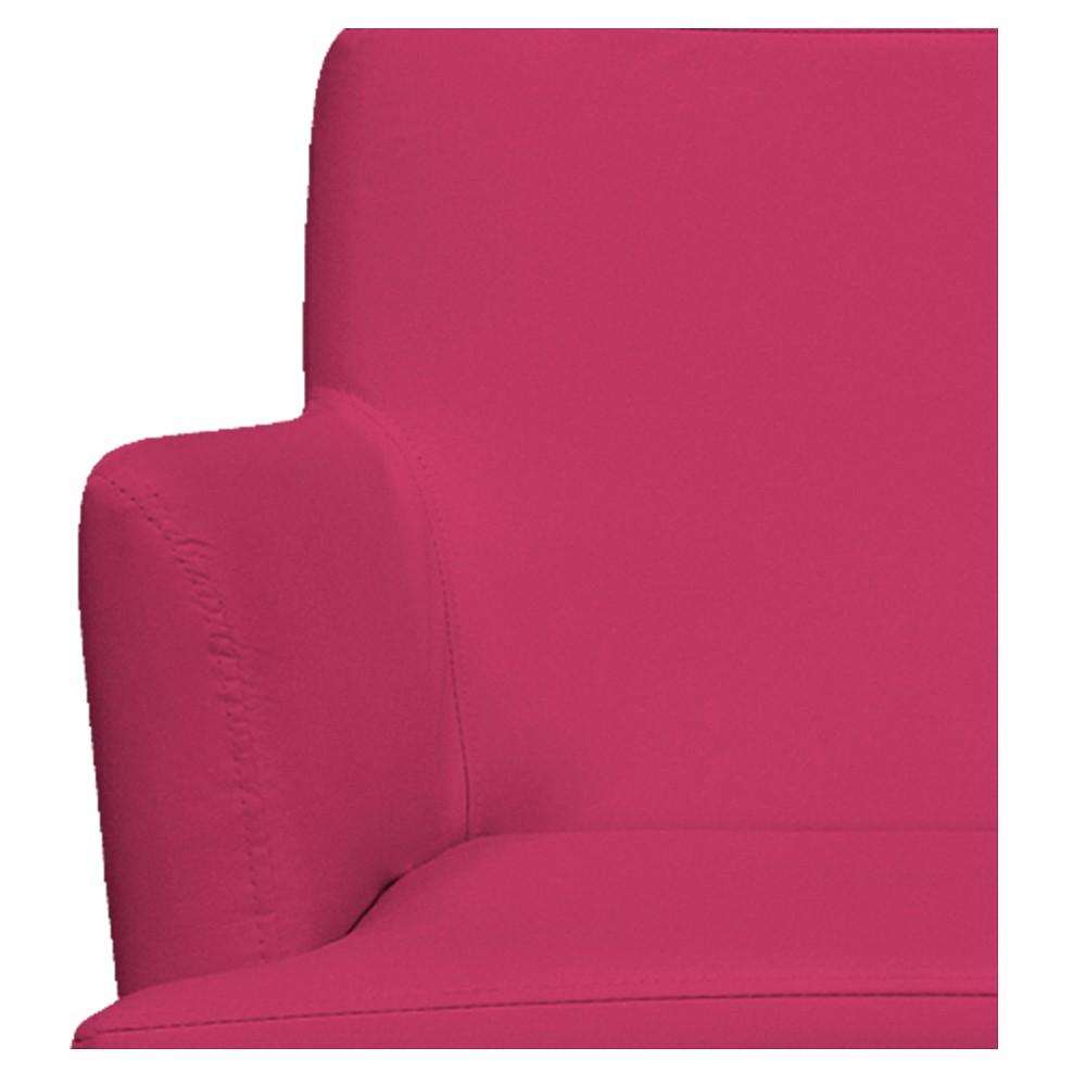 kit 04 Poltronas Vitória Suede Pink - ADJ Decor