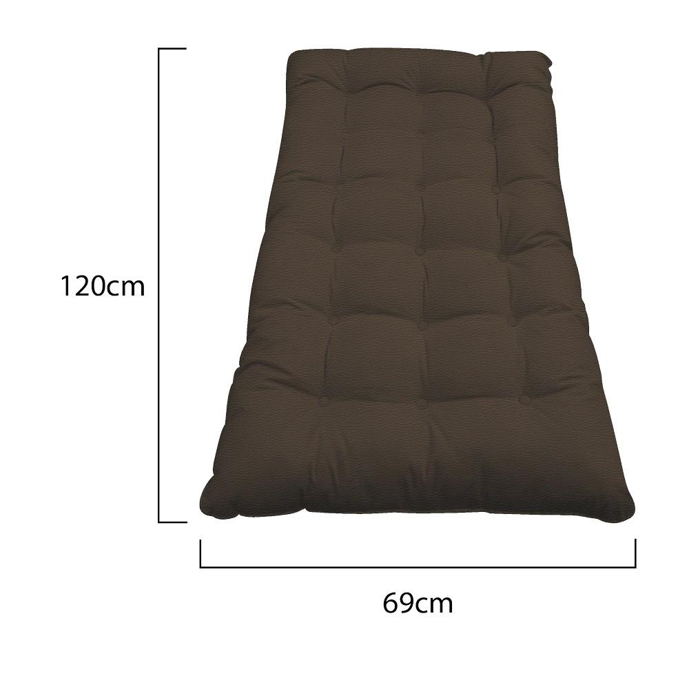 Kit Almofadas para Poltrona e Puff Costela Corano Marrom - ADJ Decor