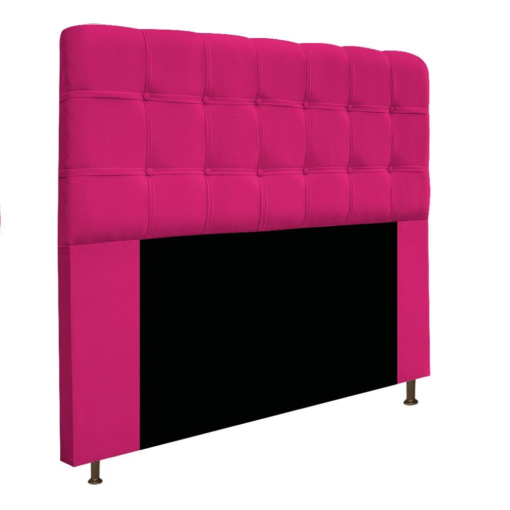 Kit Cabeceira e Calçadeira Baú Estofada Mel 160 cm Queen Size Com Capitonê Suede Pink - ADJ Decor