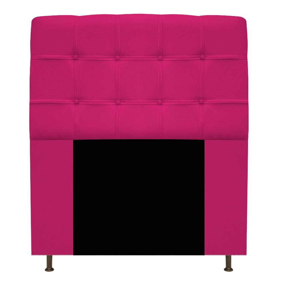 Kit Cabeceira e Calçadeira Baú Estofada Mel 90 cm Solteiro Com Capitonê Suede Pink - ADJ Decor