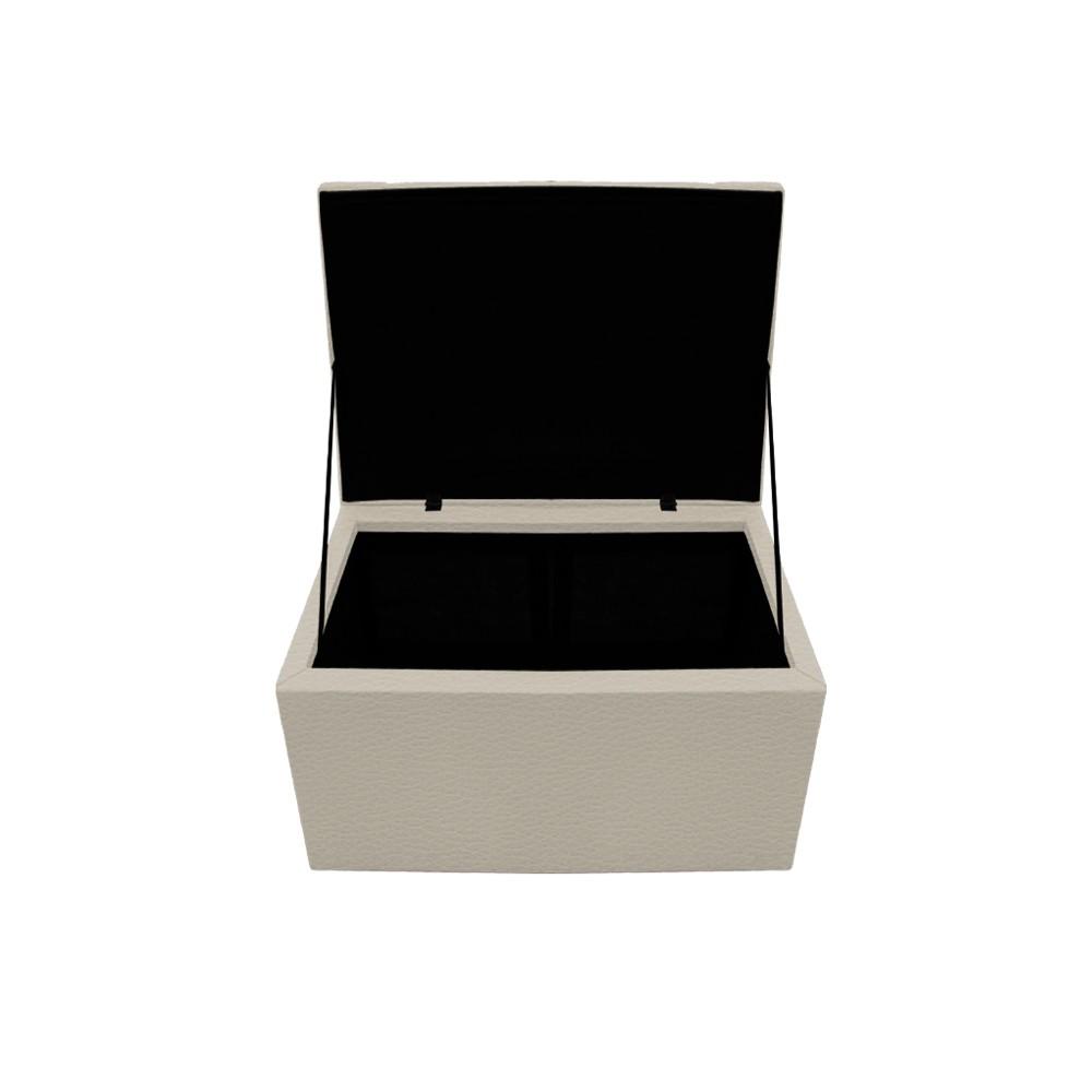 Kit Cabeceira e Calçadeira Copenhague 100 cm Solteiro Corano Bege - ADJ Decor