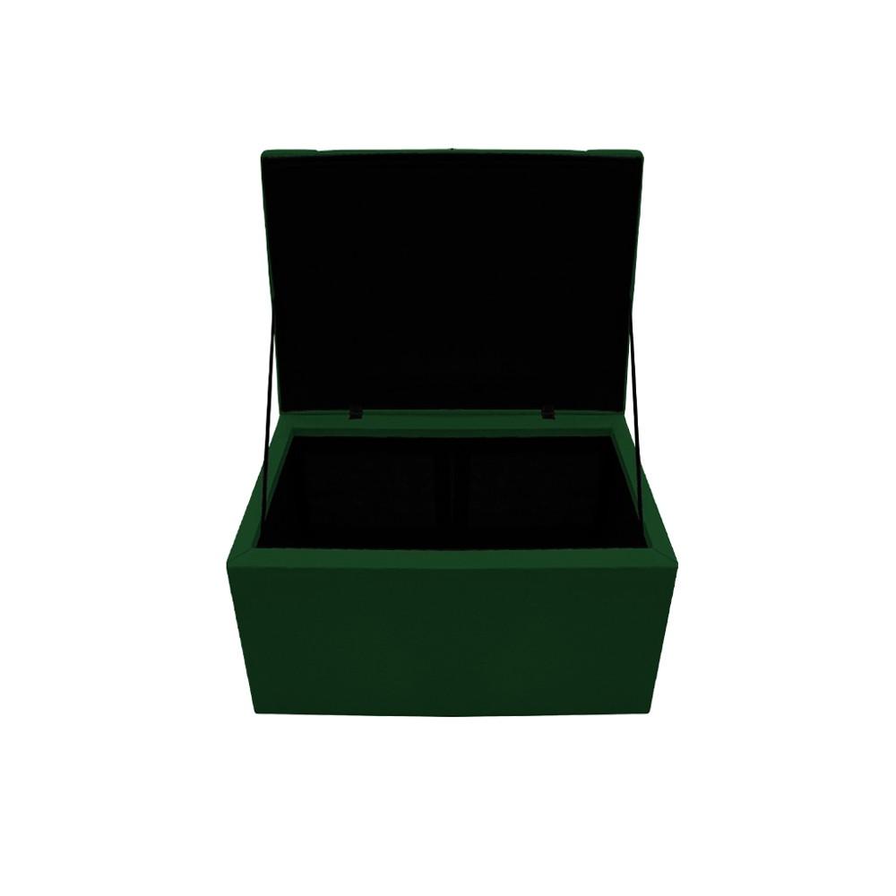 Kit Cabeceira e Calçadeira Copenhague 100 cm Solteiro Suede Verde - ADJ Decor