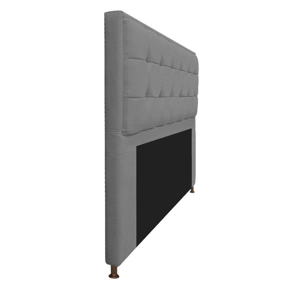 Kit Cabeceira e Calçadeira Copenhague 160 cm Queen Size Corano Cinza - ADJ Decor