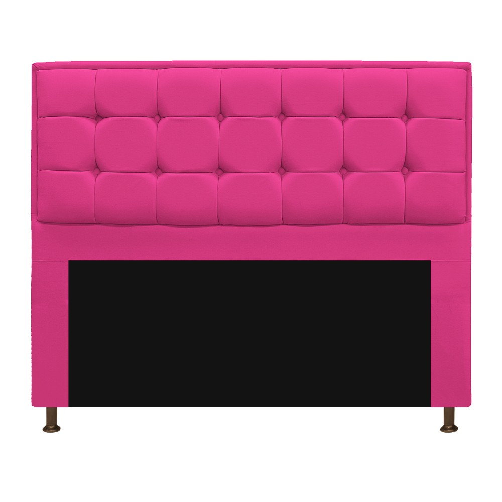 Kit Cabeceira e Calçadeira Copenhague 195 cm King Size Suede Pink - ADJ Decor