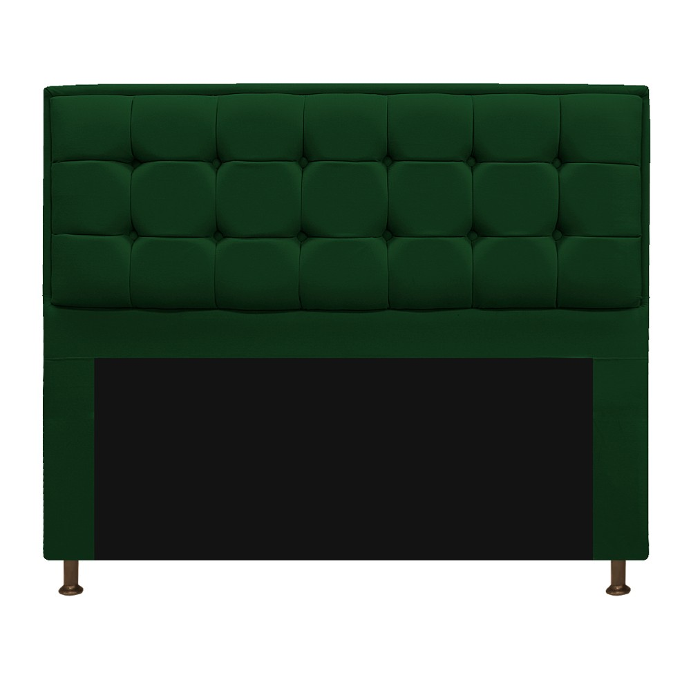 Kit Cabeceira e Calçadeira Copenhague 195 cm King Size Suede Verde - ADJ Decor