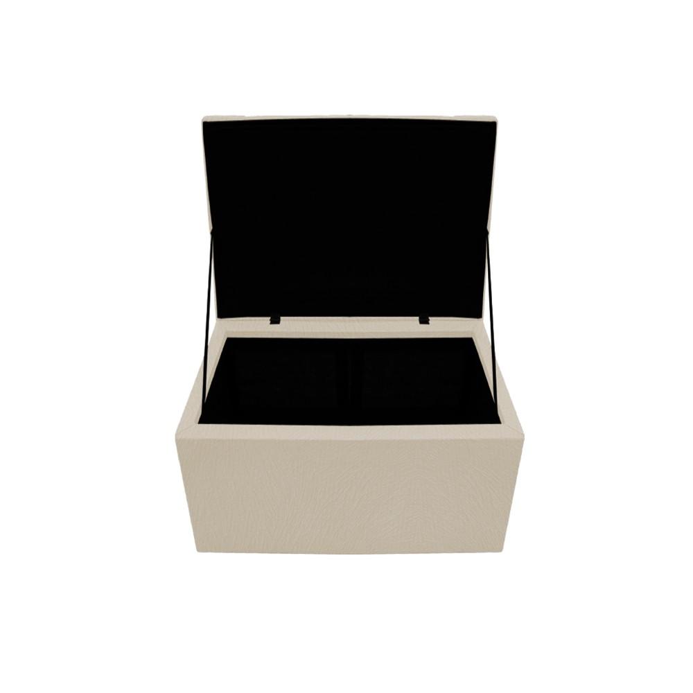 Kit Cabeceira e Calçadeira Copenhague 90 cm Solteiro Suede Bege - ADJ Decor