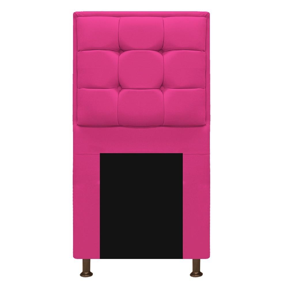 Kit Cabeceira e Calçadeira Copenhague 90 cm Solteiro Suede Pink - ADJ Decor