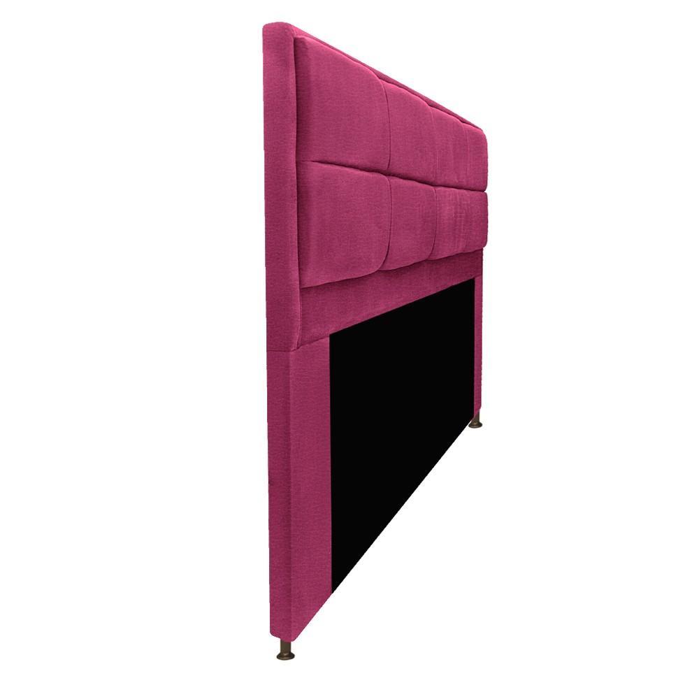 Kit Cabeceira e Calçadeira Munique 160 cm Queen Size Corano Pink - ADJ Decor