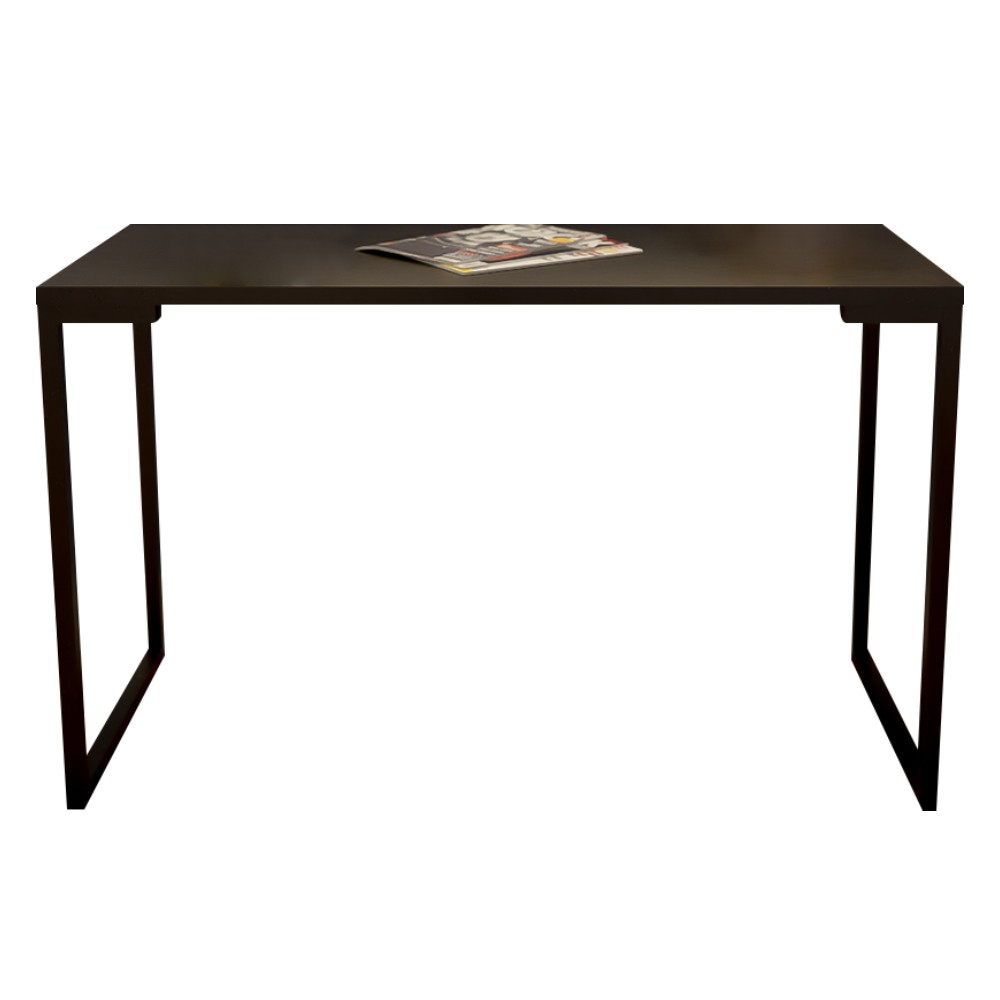 Mesa Escrivaninha Adelle 90cm Para Escritório e Home Office Industrial Preto - ADJ DECOR