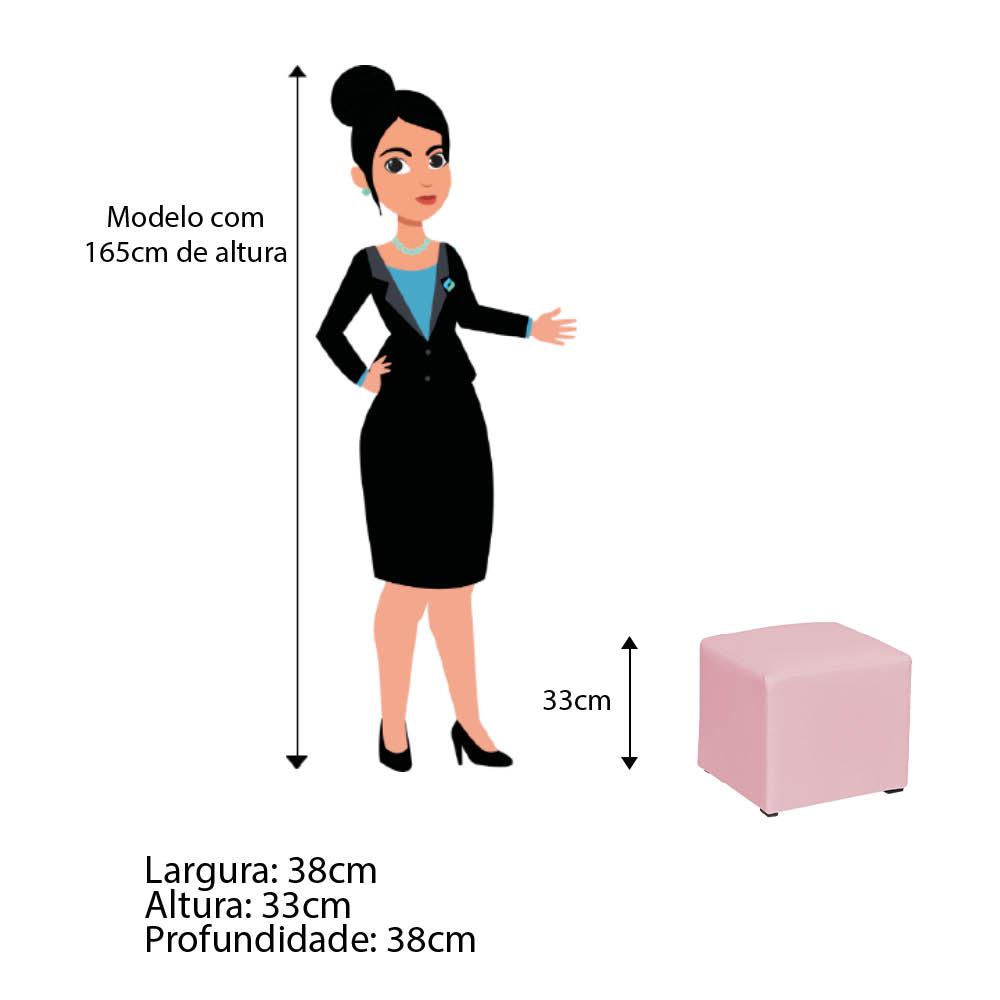 Poltrona de Amamentação Maya com Balanço e Puff Corano Rosa Bebê - ADJ DECOR