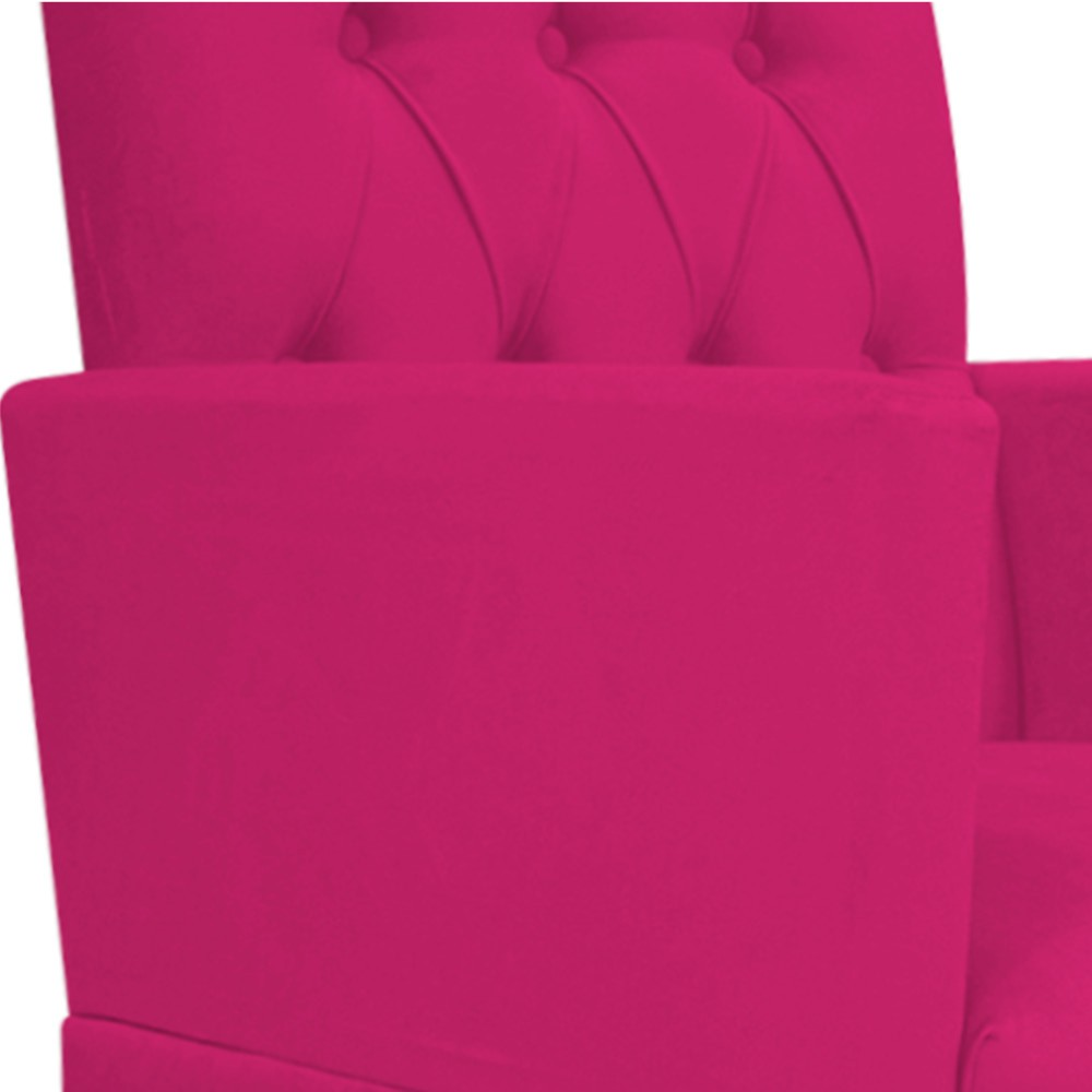 Poltrona Fernanda Pés Palito Tabaco Suede Pink - ADJ Decor