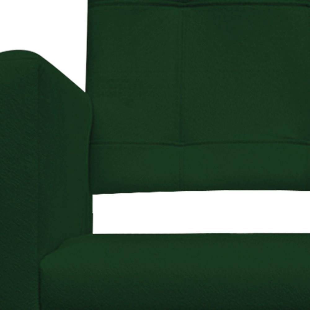 Poltrona Gênesis Pés Palito Mel Suede Verde - ADJ Decor
