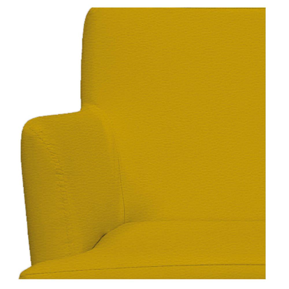 Poltrona Vitória Corano Amarelo - ADJ Decor