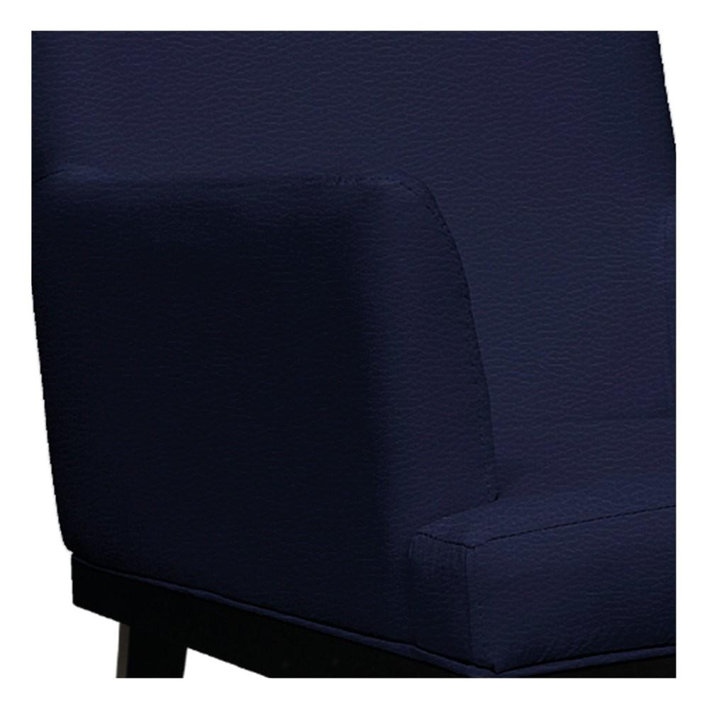 Poltrona Vitória Corano Azul Marinho - ADJ Decor