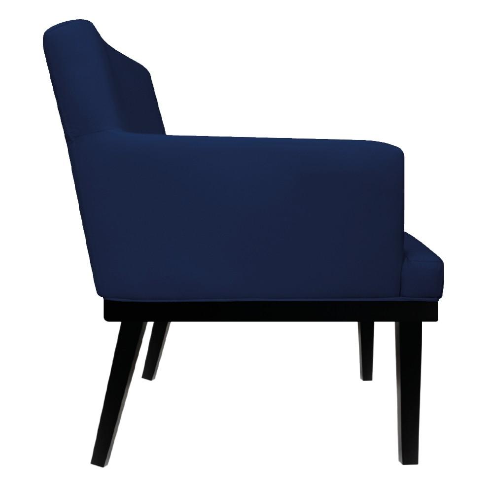 Poltrona Vitória Suede Azul Marinho - ADJ Decor