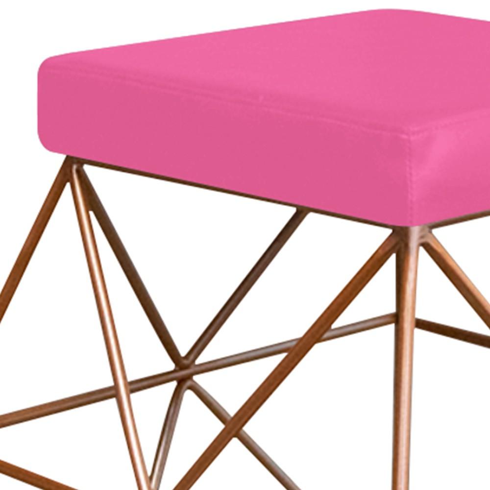 Puff Quadrado Aramado Elsa Corano Pink - ADJ Decor