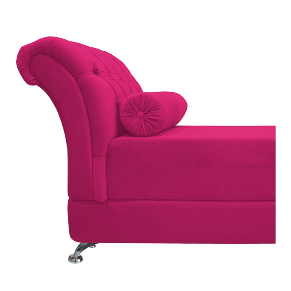 Recamier Taty Casal 140cm Suede Pink - ADJ Decor