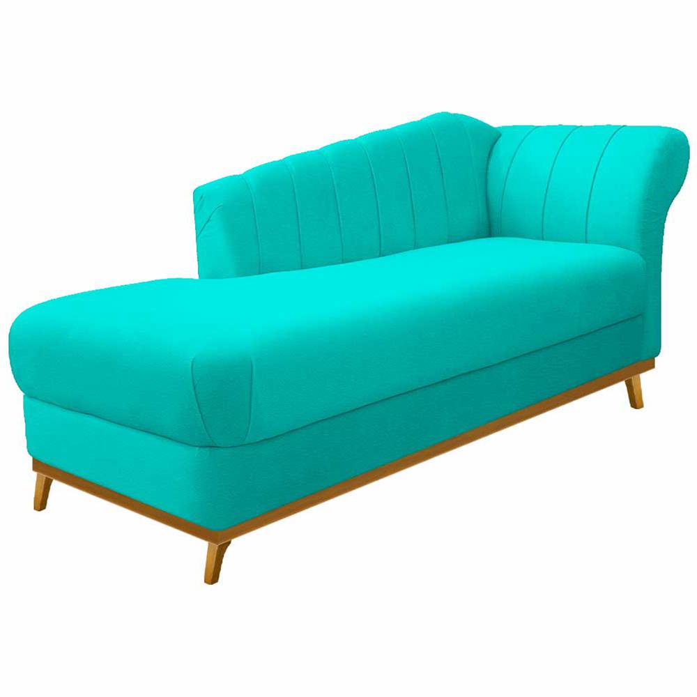 Recamier Vanessa 160cm Lado Esquerdo Corano Azul Turquesa - ADJ Decor