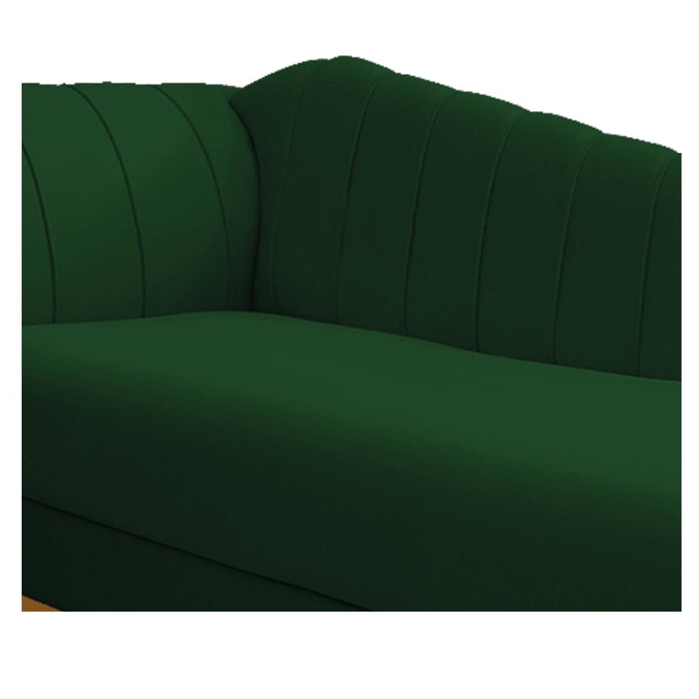 Recamier Vanessa 185cm Lado Direito Suede Verde - ADJ Decor