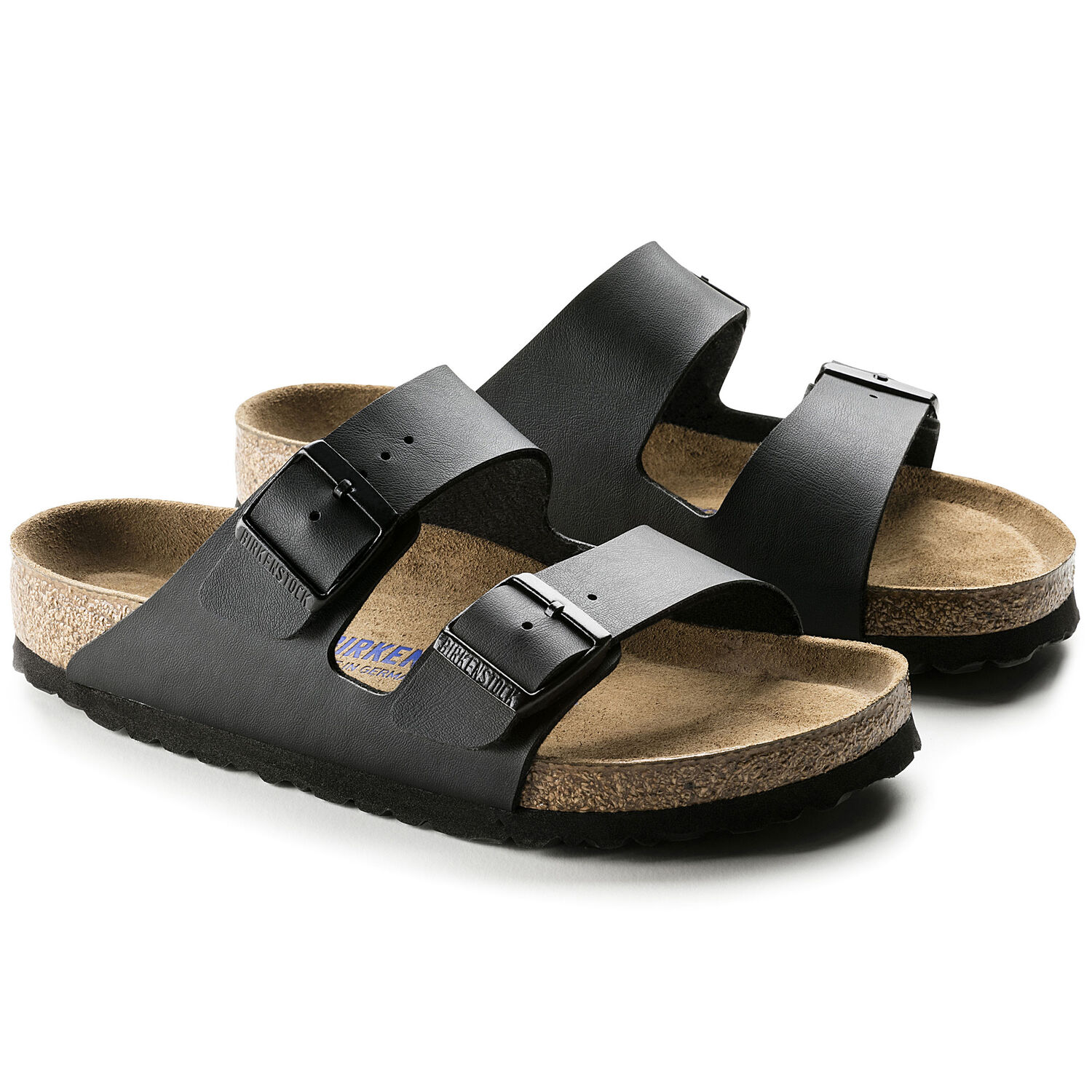 Sandália Birkenstock Arizona BF Soft Footbed Regular Preto