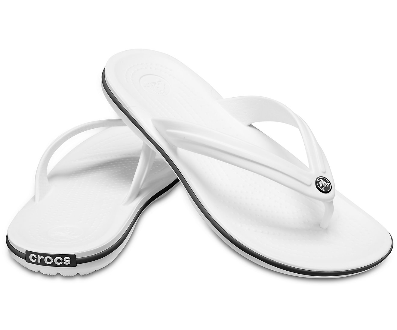 Chinelo Crocs Crocband Flip Branco