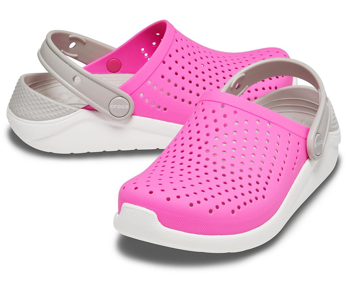 Sandália Crocs Infantil Literide Clog Rosa